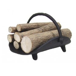 FIREPLACE LOG HOLDER W/LOGS