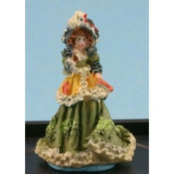 VICTORIAN LADY FIGURINE (ANTIQUE GREEN)
