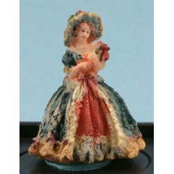 VICTORIAN LADY FIGURINE ( ROYAL BLUE)