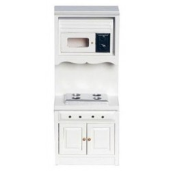 OVEN W/MICROWAVE, WHITE