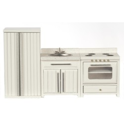 KITCHEN SET, 3PC, WHITE
