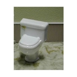 TOLIET, SILVER HANDLE, CLEAR 1:12