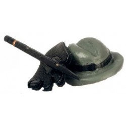 "HAT, GLOVES, CANE--(CANE 2-1/2""L)"