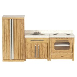 Rustic Oak Kitchen Set