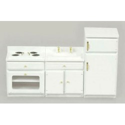 White Kitchen Appliance Set