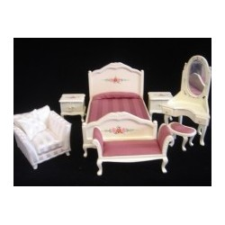 Mauve Beauty Bedroom Set 7PC