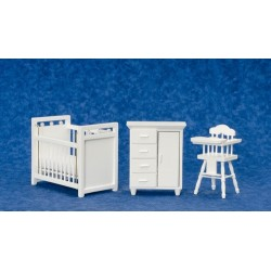 3PC WHITE NURSERY SET