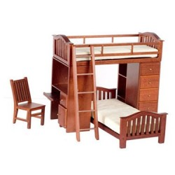 Bunkbed Set, Walnut