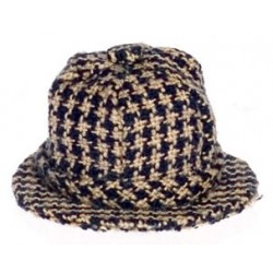 Mens Hat, Checkered Navy