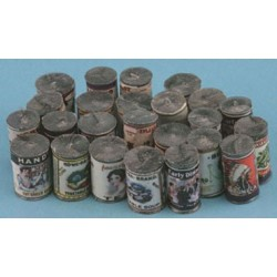 Country Store Grocery Cans, 24/pk