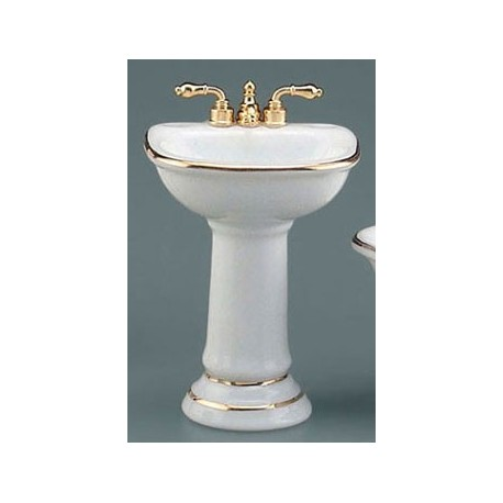 Classic Sink with Gold Trim