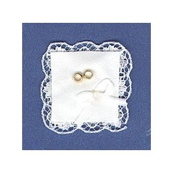 Dollhouse Miniature Wedding Ring Barer/'s Pillow in Lace ~ MUL4086