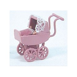 Decorated Carriage W/doll