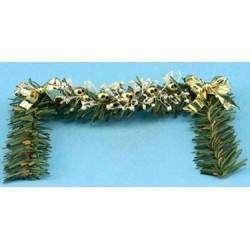 Fireplace Garland W/gold Bows