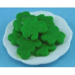 St. Patricks Cookies On Plate