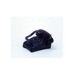 Table Phone Rotary Dial Black