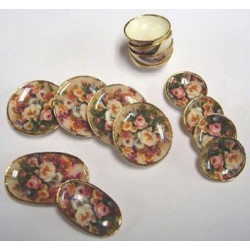 Flower Dinnerware Set