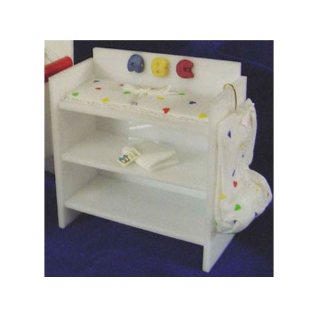 super popular 4516b 49228 Acrylic Dressing Table- White   Dollhouse Changing Tables   Superior  Dollhouse Miniatures