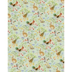 6 pack Wallpaper Country Springtime Green