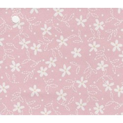 3 pack Prepasted Wallpaper White Flowers On Pink