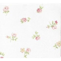 3 pack Wallpaper Mauve And Yel Flwrs On Wh