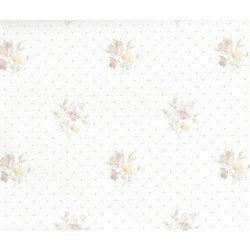 3 pack Wallpaper Floral Bouquet W Dots