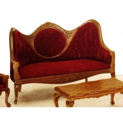 Mirrorback Sofa Red