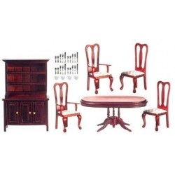 Dining Set Mahogany 6Pc