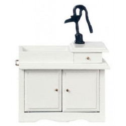 Wet Sink White Black Pump