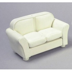 Loveseat Cream Leather