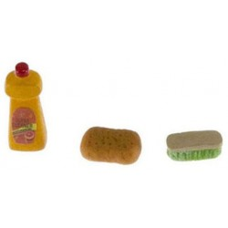 Soap Sponge And Scrub Brush