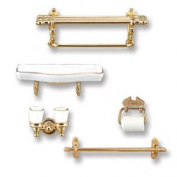 Brass Bathroom Accessory Set