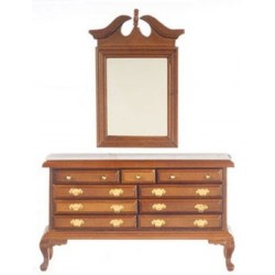 Dresser With Mirror Walnut