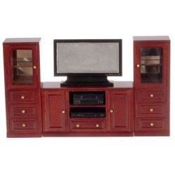Mahogany Entertainment Center Set