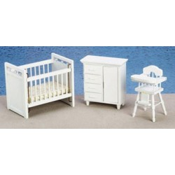 Nursery Set 3 White Cs
