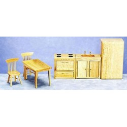 Kitchen Set 6 Pc Oak