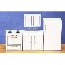 Modern Kitchen Set 4 White Cb