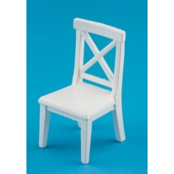 Cross Buck Chair White
