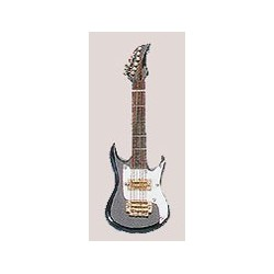 "4"" Electric Guitar Ornament Black"