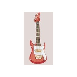 "4"" Electric Guitar Ornament Red"