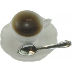 Cup Of Coffee On Saucer W Spoon