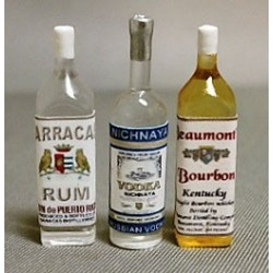 Liquor Set No3-Rum Vodka Bourbon