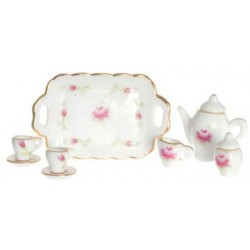 Tea Set 10Pc Pink Green