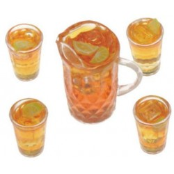 Iced Tea Set Of Pitcher W 4 Glasses