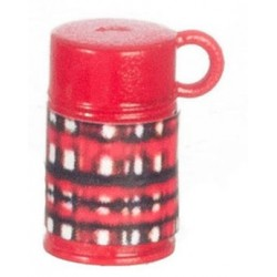 Plaid Thermos Red