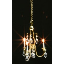 Crystal Chandelier Gold