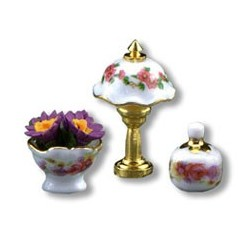 """1/2"""" Scale Rose Table Lamp Set"""