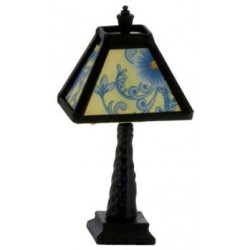 Ornate Tiffany Lamp Black