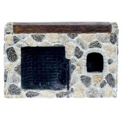 Fieldstone Walk-In Fireplace