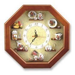 Rooster Decor Wall Clock